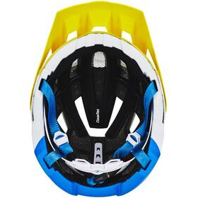 Cratoni AllSet Helmet lime-white-blue matt